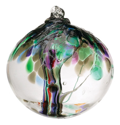 """Strength""- 2"" Tree of Enchantment Glass Ball"