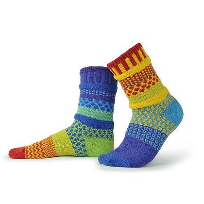 """Solmate"" socks, Size Med Rainbow"