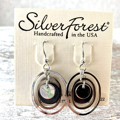 """Silver Forest"" Genuine Shell Earrings"