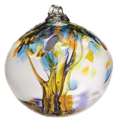 """Joy""- 2"" Tree of Enchantment Glass Ball"