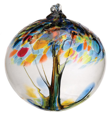 """Hope""- 2"" Tree of Enchantment Glass Ball"