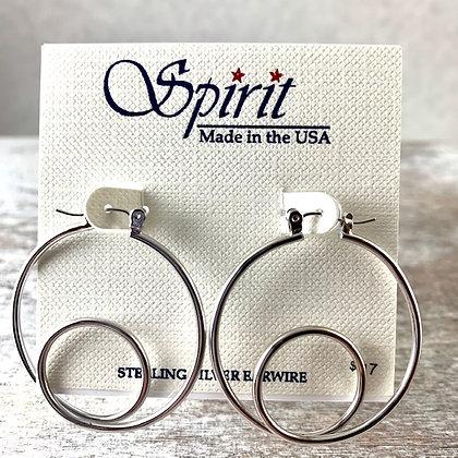 """Spirit"" Silver Earrings"
