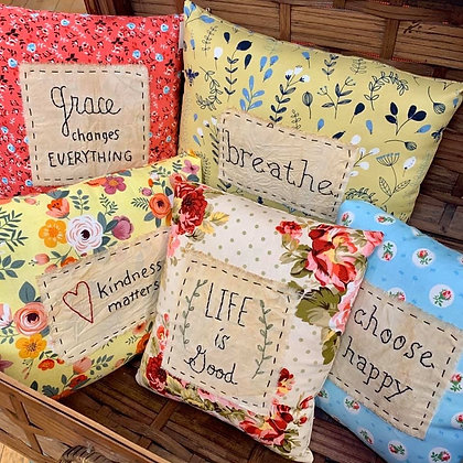 Sweet Hand-Embroidered Pillows