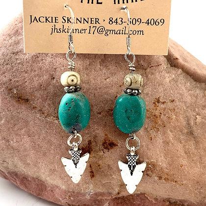 """Beaded Arrow Earrings by """"Jada"""""""