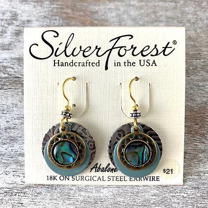 """""""Silver Forest"""" Abolone Earrings"""
