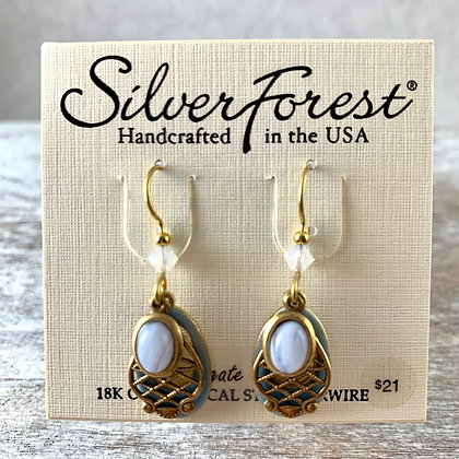 """Silver Forest"" Agate Earrings"