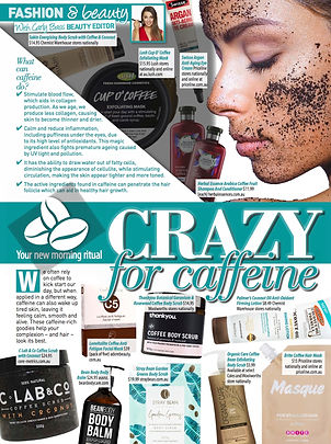benefits of caffeine on skin and body care