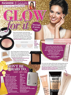 highlighting tips for glowing skin