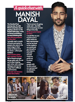 Intreview with Manish Dayal on TV show The Resident