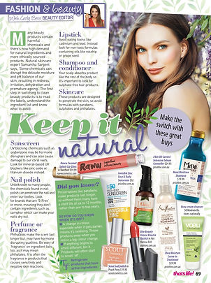 natural beauty brands and ingredients