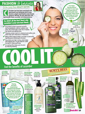 benefits of skin care and makeup products with cucumber