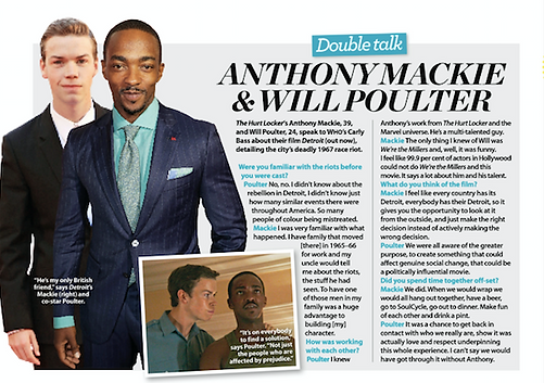 Interview with Detroit actors Anthony Mackie and Will Poulter