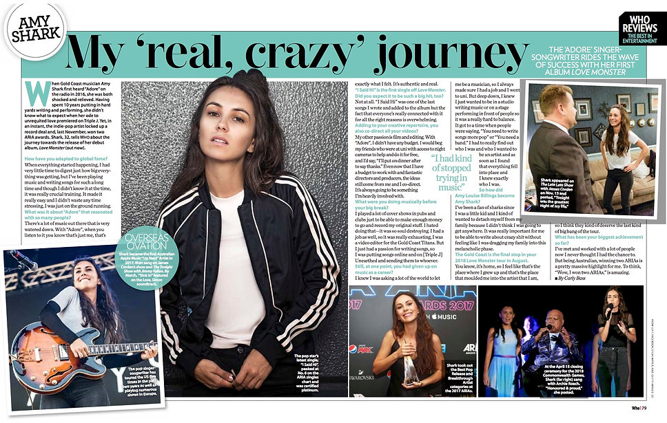 Interview with Adore singer songwriter Amy Shark about her journey and 2018 tour