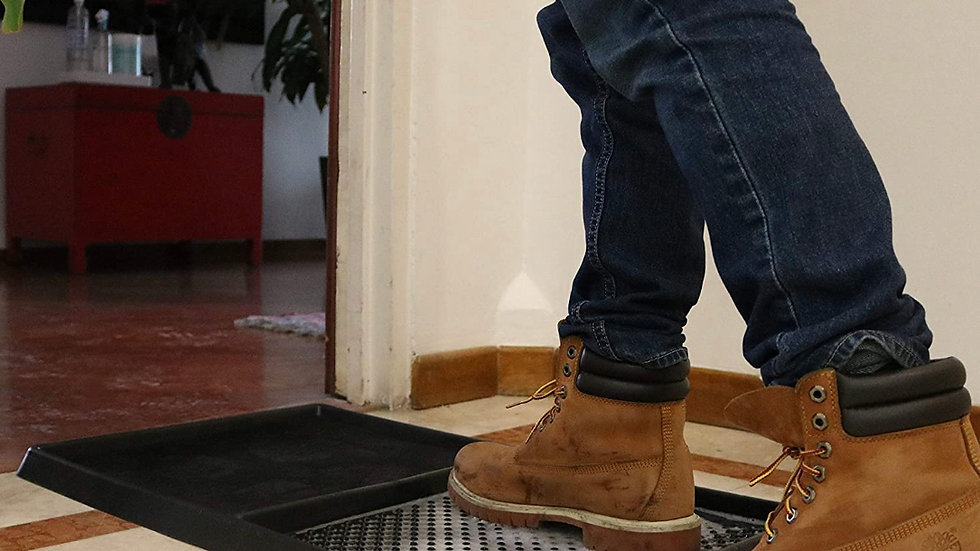 Sanitation Floor Mat / with Solutions for Clean Shoes