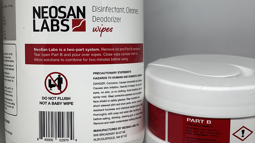 Hospital-Grade Disinfectant, Cleaner, Deodorizer Wipes