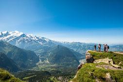 La chaîne du Mont-Blanc vu depuis le Dérochoir