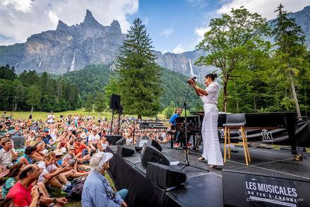 André Manoukian & Malia aux musicales du Fer à Cheval, juin 2019.