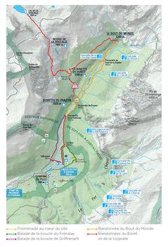 Carte des itinéraires du cirque du Fer à Cheval