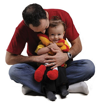 Dad with young child
