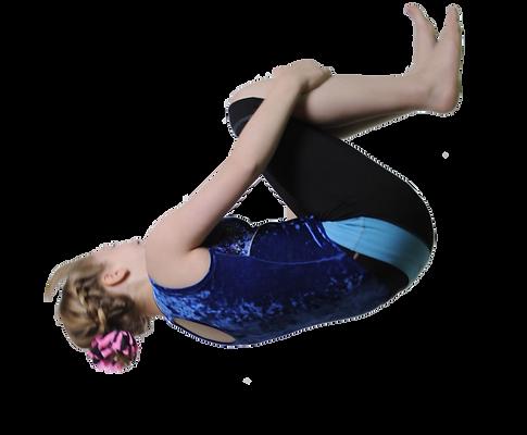 Gymnast doing a backflip