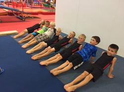 Boys Team On Floor