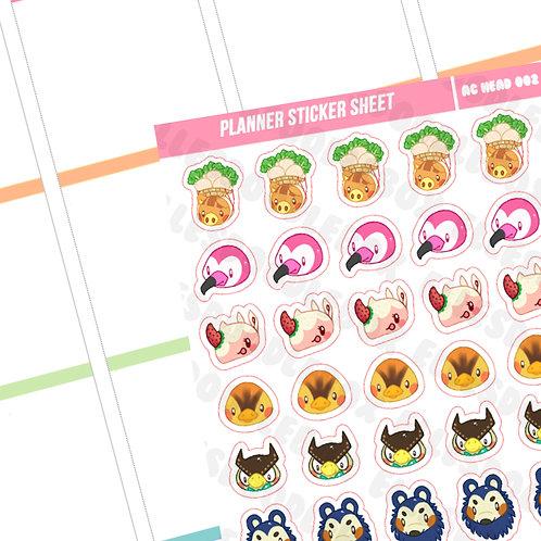 Animal Crossing 6 Sticker Sheet