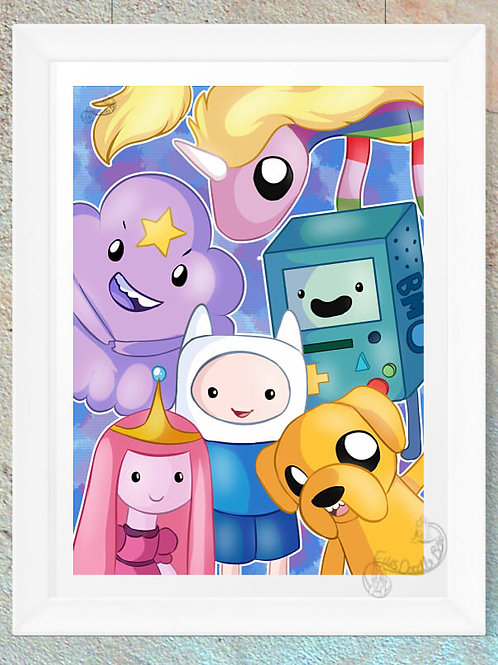 Adventure Time Finn Jake Lump Space Princess Rainicorn Princess Bubblegum