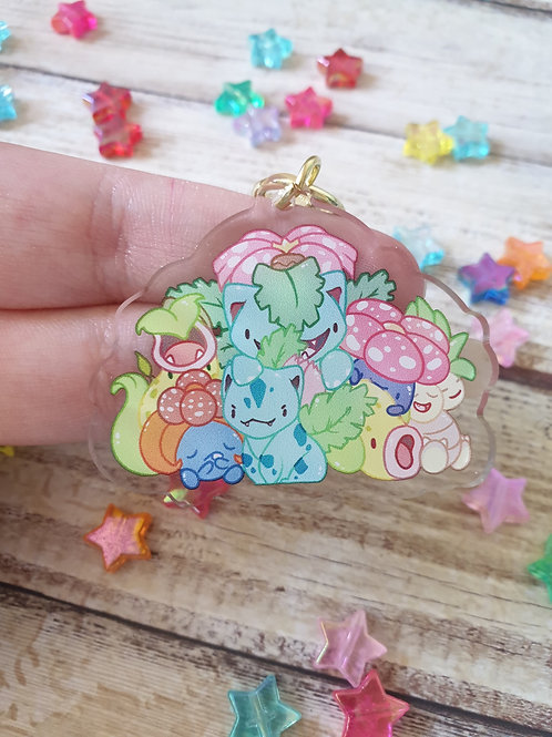 "Grass Pokemon 2 / 2"" Acrylic Charm"