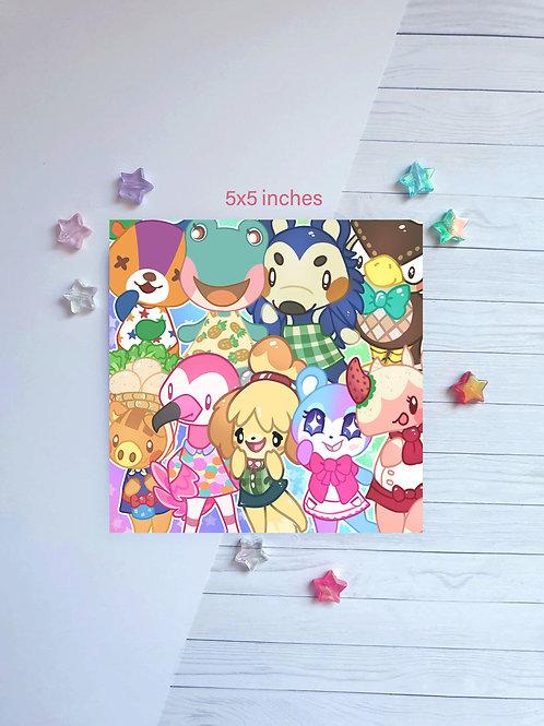 Animal Crossing Square Print