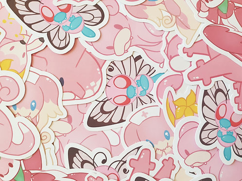 Pink Pokemon 2 Stickers