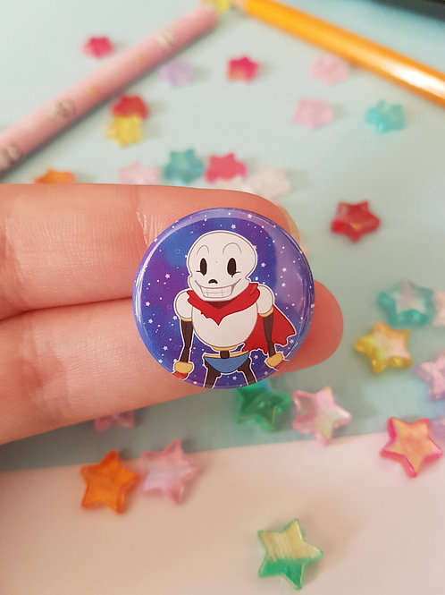 Papyrus Undertale Pin Badge Button