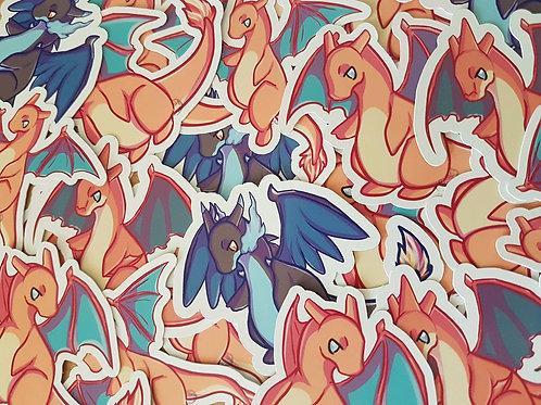 Pokemon Chibi Charizard Stickers