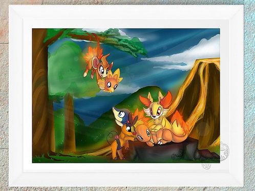 Pokemon Fire Starters