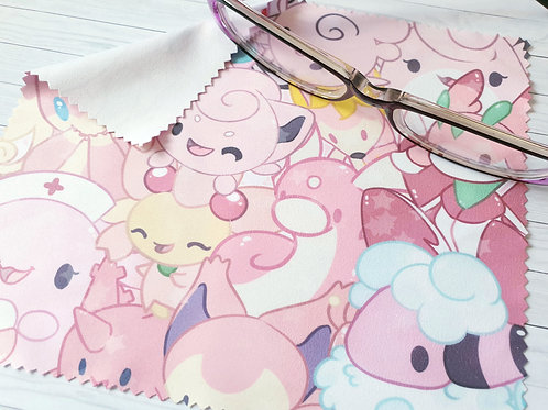 Pink Pokemon Lens Cleaning Cloth - for glasses and screens