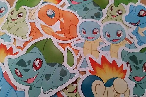 Pokemon Starters Stickers