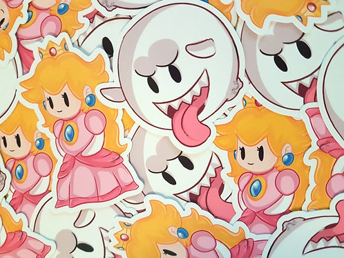 Princess Peach Boo Sticker