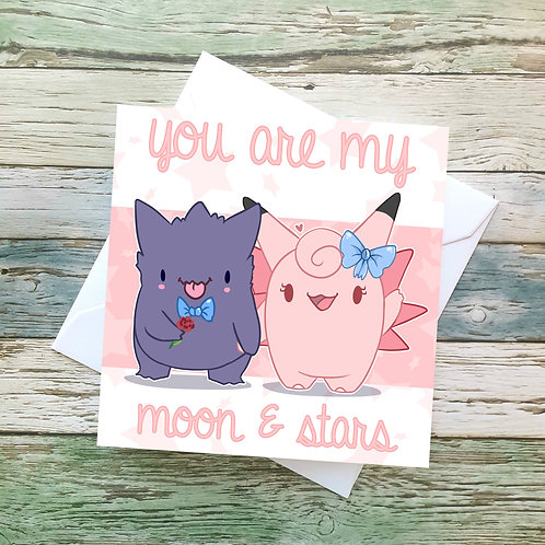 Gengar / Clefable Valentines Card