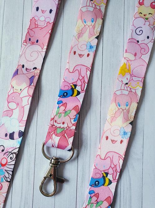 Pink Pokemon Lanyard