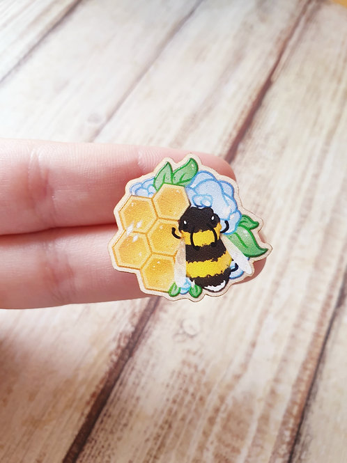 Bee Wooden Pin