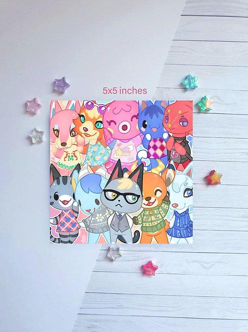 Animal Crossing 2 Square Print