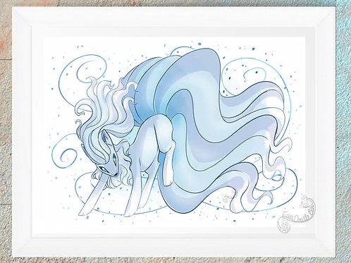 Alola Ninetails Print
