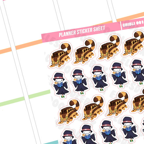 Catbus / Turnip Head Sticker Sheet