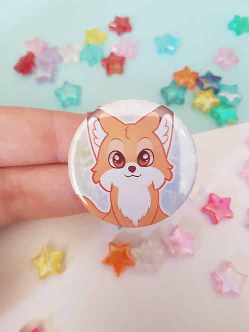 Fox Pin Badge Button