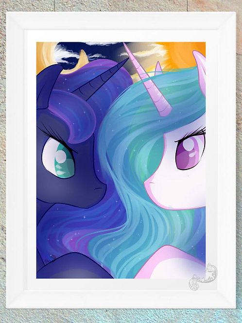 Princess Celestia & Princess Luna Print
