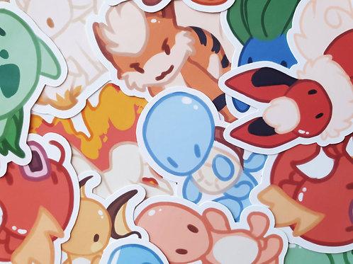 Pokemon Chibi Stickers