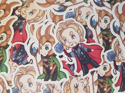 Thor Loki Stickers