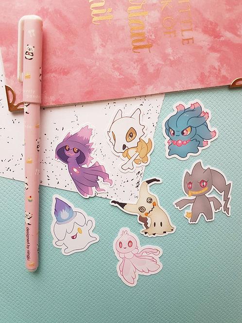 Ghost Pokemon Set 2 Small Sticker Set