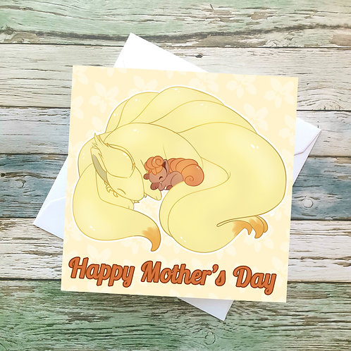 Ninetails & Vulpix Mothers Card