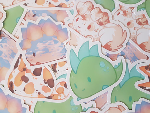 Chubby Animals Stickers