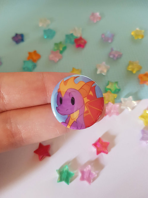 Spyro The Dragon Pin Badge Button